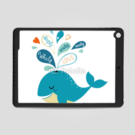 Obudowa na iPad Air Whale in love