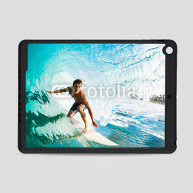 Obudowa na iPad Air Surfer on Blue Ocean Wave in the Tube Getting Barreled