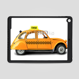 Obudowa na iPad Air Taxi, retro car orange color on the white background