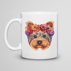 Kubek do herbaty  Yorkshire Terrier w wianku