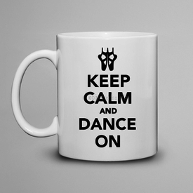 Kubek do herbaty Keep Calm and Dance on