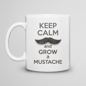 Kubek do herbaty Keep Calm and grow a Mustaches