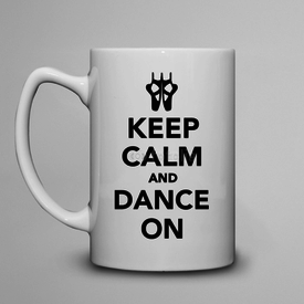 Kubek do herbaty duży Keep Calm and Dance on