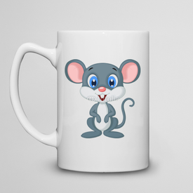 Kubek do herbaty duży Cute mouse cartoon