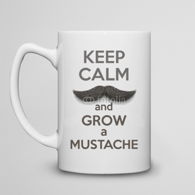 Kubek do herbaty duży Keep Calm and grow a Mustaches