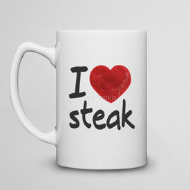 Kubek do herbaty duży I love steak