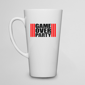 Kubek do kawy latte Game Over Party