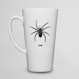 Kubek do kawy latte Engraving vintage Spider