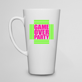 Kubek do kawy latte Game Over Party Neon