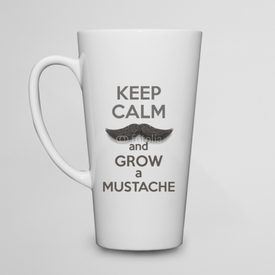 Kubek do kawy latte Keep Calm and grow a Mustaches