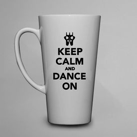 Kubek do kawy latte Keep Calm and Dance on