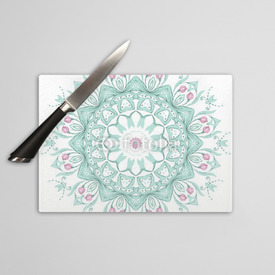 Deska do krojenia Watercolor mandala on white background