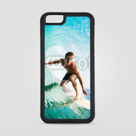 Obudowa na iPhone 6/6s Surfer on Blue Ocean Wave in the Tube Getting Barreled