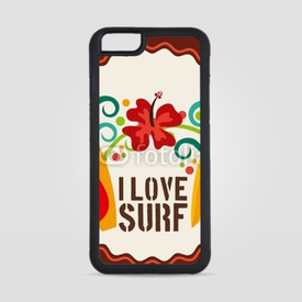 Obudowa na iPhone 6/6s I love surf