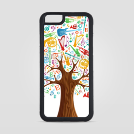 Obudowa na iPhone 6/6s Abstract musical tree made with instruments