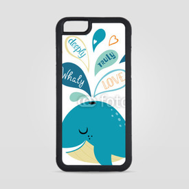 Obudowa na iPhone 6/6s Whale in love