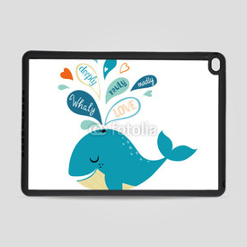 Obudowa na iPad Air 2 Whale in love