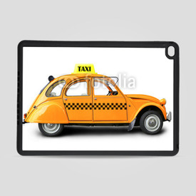 Obudowa na iPad Air 2 Taxi, retro car orange color on the white background