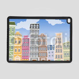 Obudowa na iPad Air 2 Big colorful city landscape with buildings