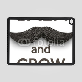 Obudowa na iPad Air 2 Keep Calm and grow a Mustaches
