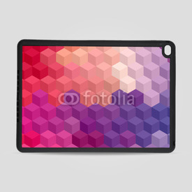 Obudowa na iPad Air 2 Multicolor cubic mosaic.