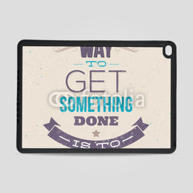 Obudowa na iPad Air 2 Motivating Quotes. Typographical vector design