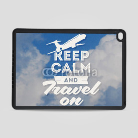 Obudowa na iPad Air 2 Keep calm and travel on