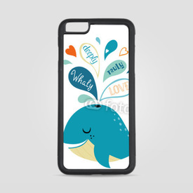 Etui na iPhone 6 Plus/6s Plus Whale in love