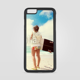 Etui na iPhone 6 Plus/6s Plus Surferka na plaży