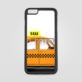 Etui na iPhone 6 Plus/6s Plus Taxi, retro car orange color on the white background