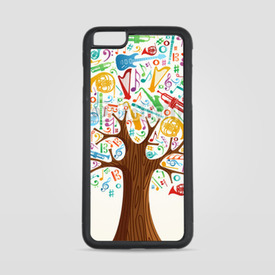 Etui na iPhone 6 Plus/6s Plus Abstract musical tree made with instruments