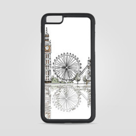 Etui na iPhone 6 Plus/6s Plus Szkic Londynu