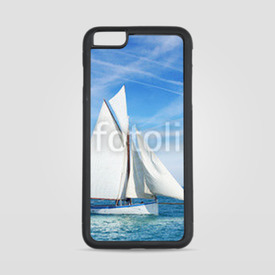 Etui na iPhone 6 Plus/6s Plus Seascape with sailboat the background of the blue sky.