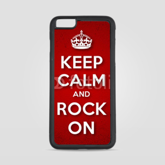 Etui na iPhone 6 Plus/6s Plus Keep Calm and Rock On