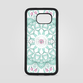 Obudowa na Samsung Galaxy S6 Watercolor mandala on white background