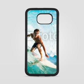 Obudowa na Samsung Galaxy S6 Surfer on Blue Ocean Wave in the Tube Getting Barreled