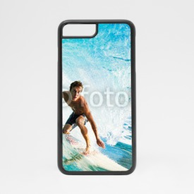 Obudowa na iPhone 7 Surfer on Blue Ocean Wave in the Tube Getting Barreled