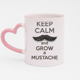 Kubek serce róż Keep Calm and grow a Mustaches
