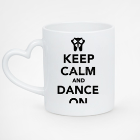 Kubek serce biały Keep Calm and Dance on