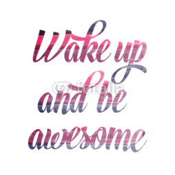 Bluzka damska w serek Wake up and be awesome