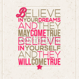 Poster Believe in yourself