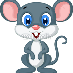 Torba bawełniana Cute mouse cartoon