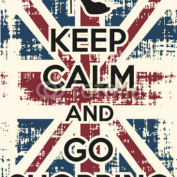 Poster Keep calm and go shopping