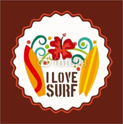 Etui na iPhone 5/5s/5SE I love surf