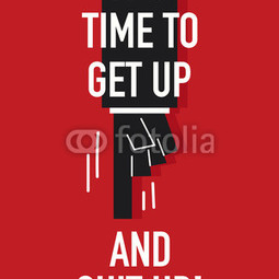 Poster Get up and suit up