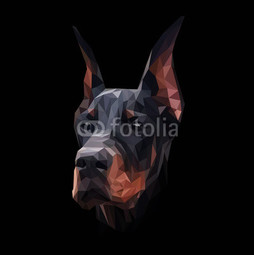 Doberman low poly