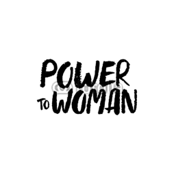 Naklejka ścienna Power To Woman
