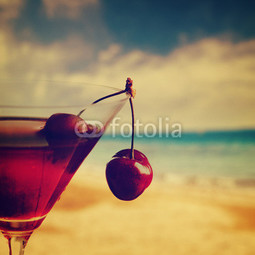 Poster Cherry Cocktail