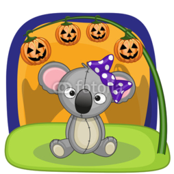 Kubek do herbaty Koala na Halloween