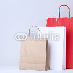 Colorful paper shopping bags on ...